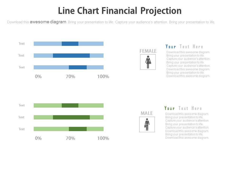 Financial projections & key metrics template for powerpoint.