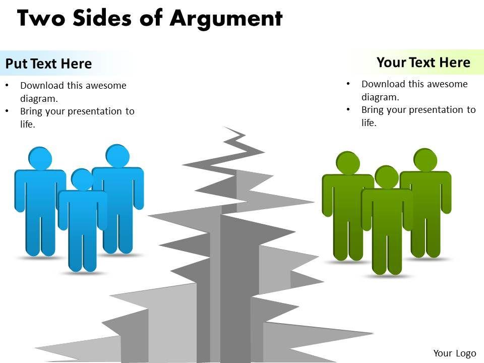 Premise Indicator Words: Two Sides Of Argument Ppt Slides Presentation Diagrams