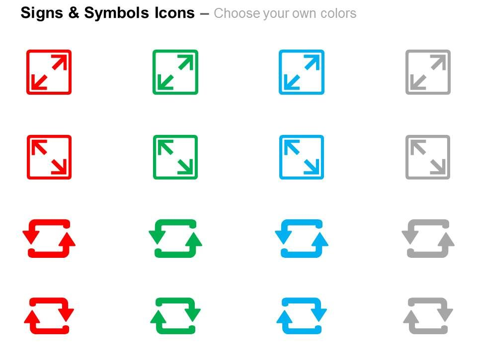 Two Squares Two Arrows Direction Indication Ppt Icons Graphics Slide02