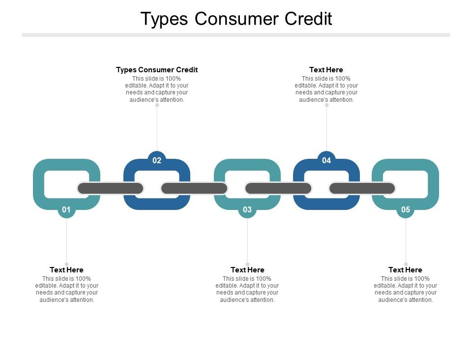 Types Consumer Credit Ppt Powerpoint Presentation Infographic Rules Cpb