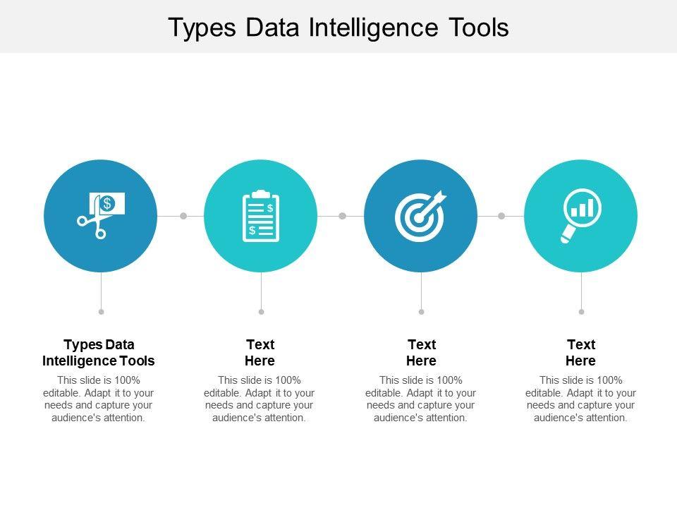 Types Data Intelligence Tools Ppt Powerpoint Presentation