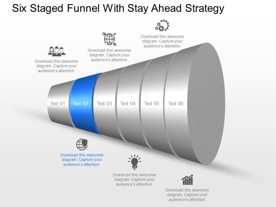 90509375 style layered funnel 6 piece powerpoint presentation, Presentation templates