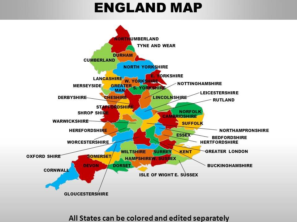 UK England Country Powerpoint Maps   PowerPoint Slide ...
