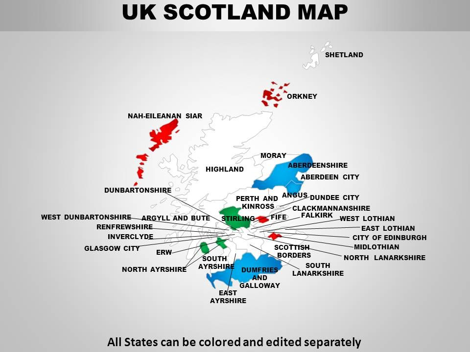 Map Of Uk For Powerpoint.Uk Scotland Country Powerpoint Maps Powerpoint Design Template
