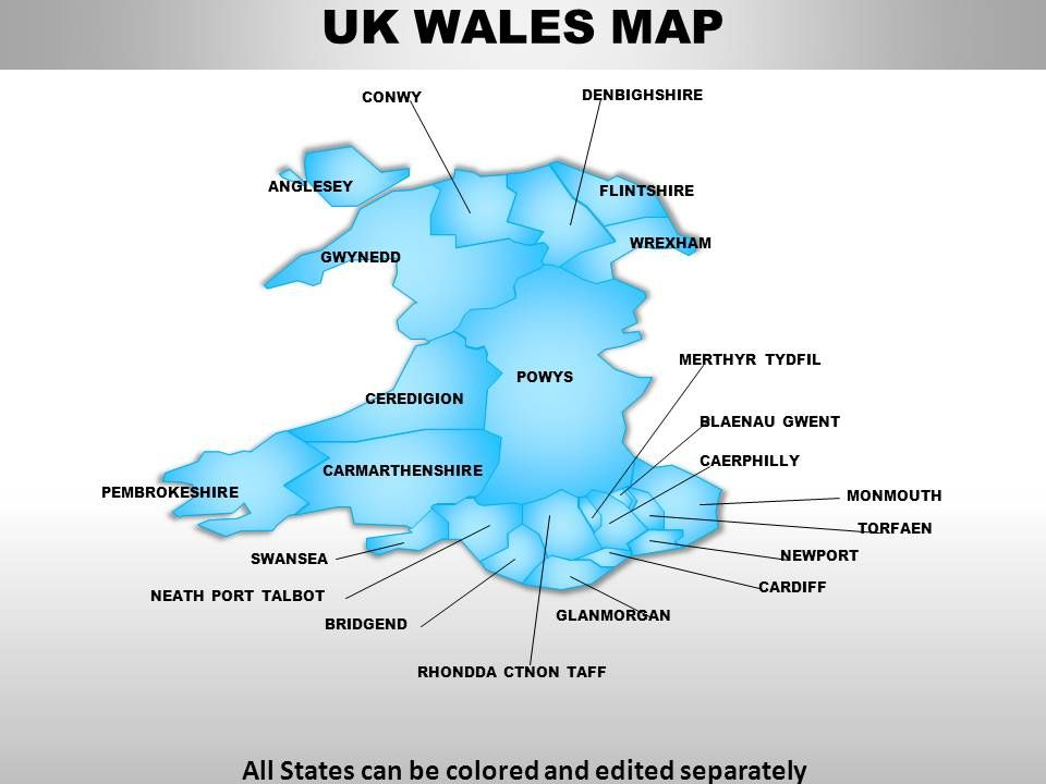 UK Wales Country Powerpoint Maps PowerPoint Templates Download