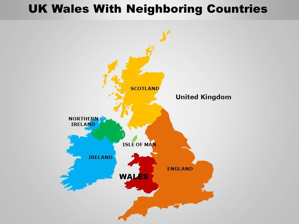 Map Of Uk With Countries.Uk Wales Country Powerpoint Maps Powerpoint Templates