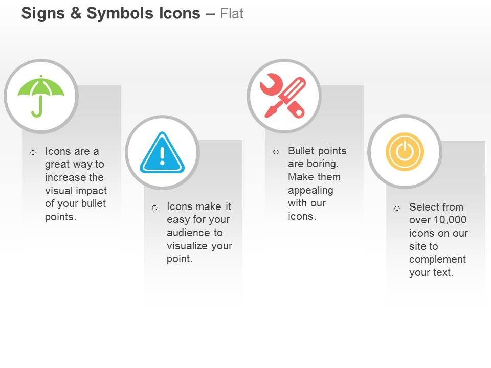 umbrella_safety_icon_repair_tools_power_off_ppt_icons_graphics_Slide01