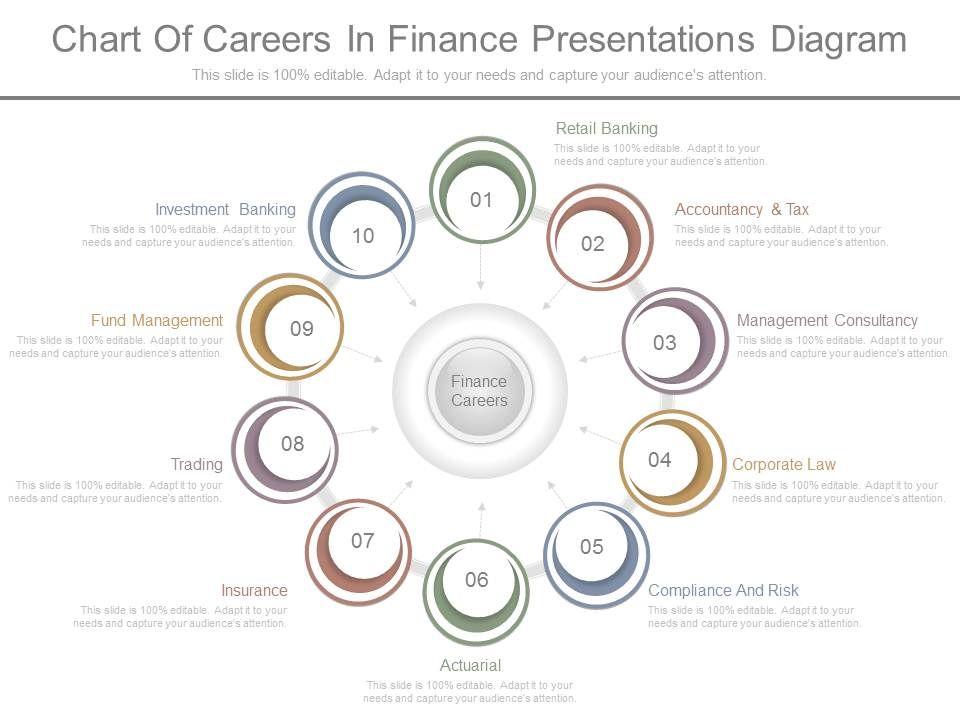 unique_chart_of_careers_in_finance_presentations_diagram_Slide01