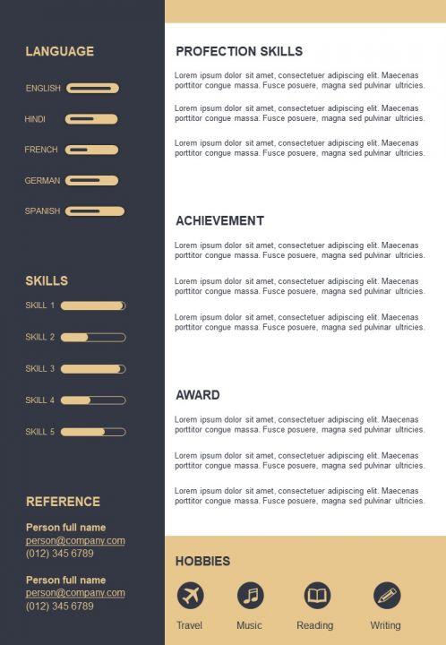 Unique Creative Layout A4 Resume Design Template Presentation