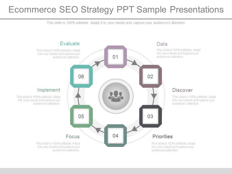 Unique Ecommerce Seo Strategy Ppt Sample Presentations