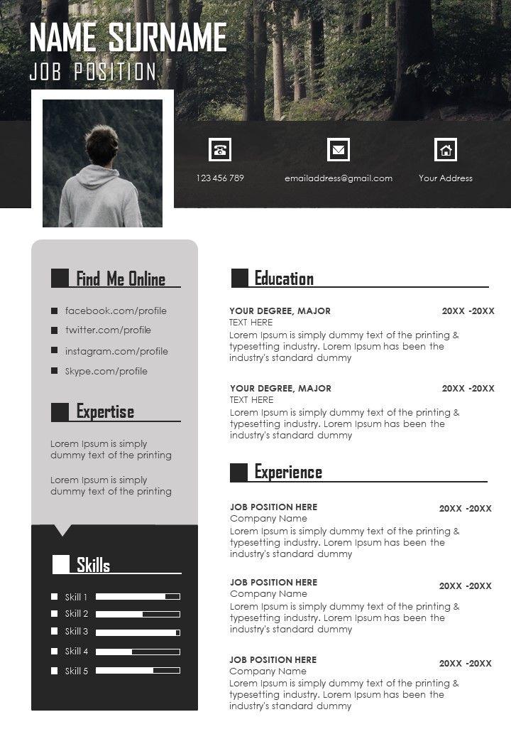 Unique Graphic Visual Resume CV Design Template