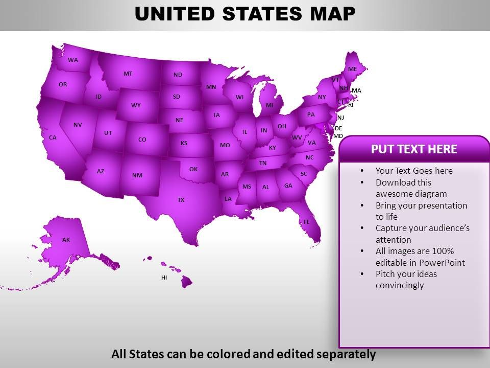 United States Country Powerpoint Maps PowerPoint Slide Templates