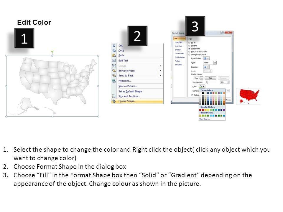 United States Country Powerpoint Maps | PowerPoint Slide ...