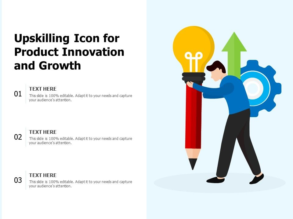 Upskilling Icon For Product Innovation And Growth