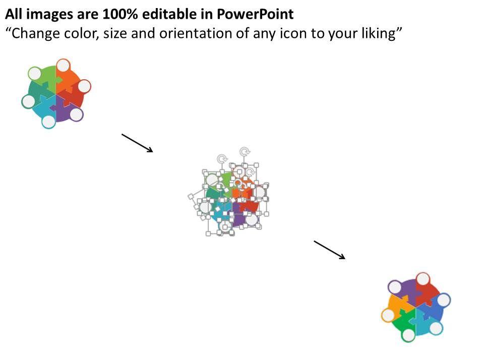 style cluster surround  piece powerpoint presentation, Presentation