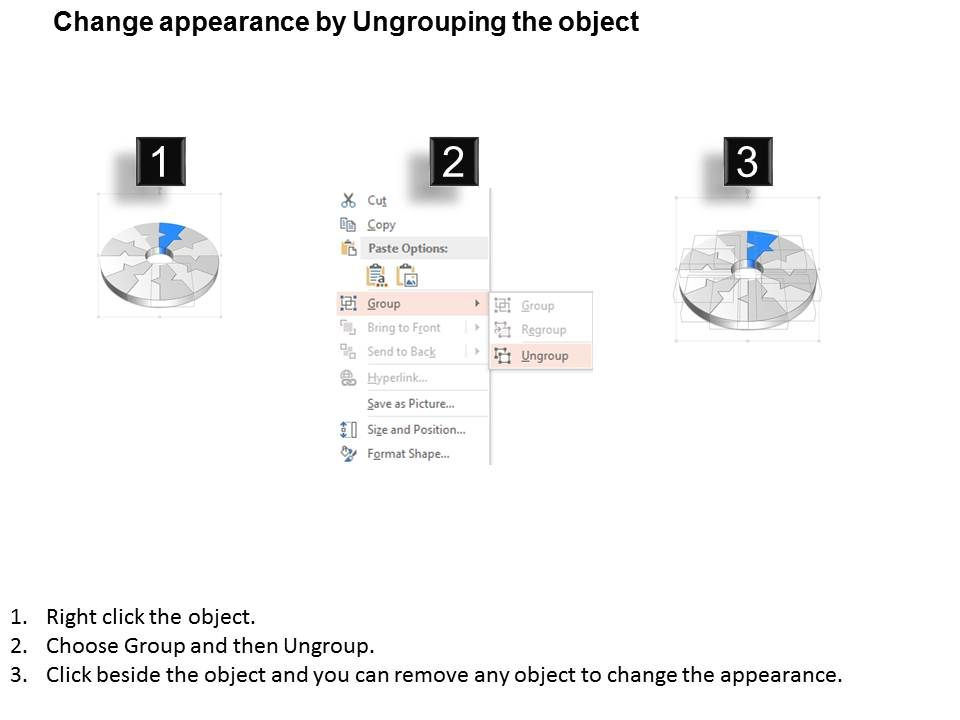 style circular loop  piece powerpoint presentation, Presentation