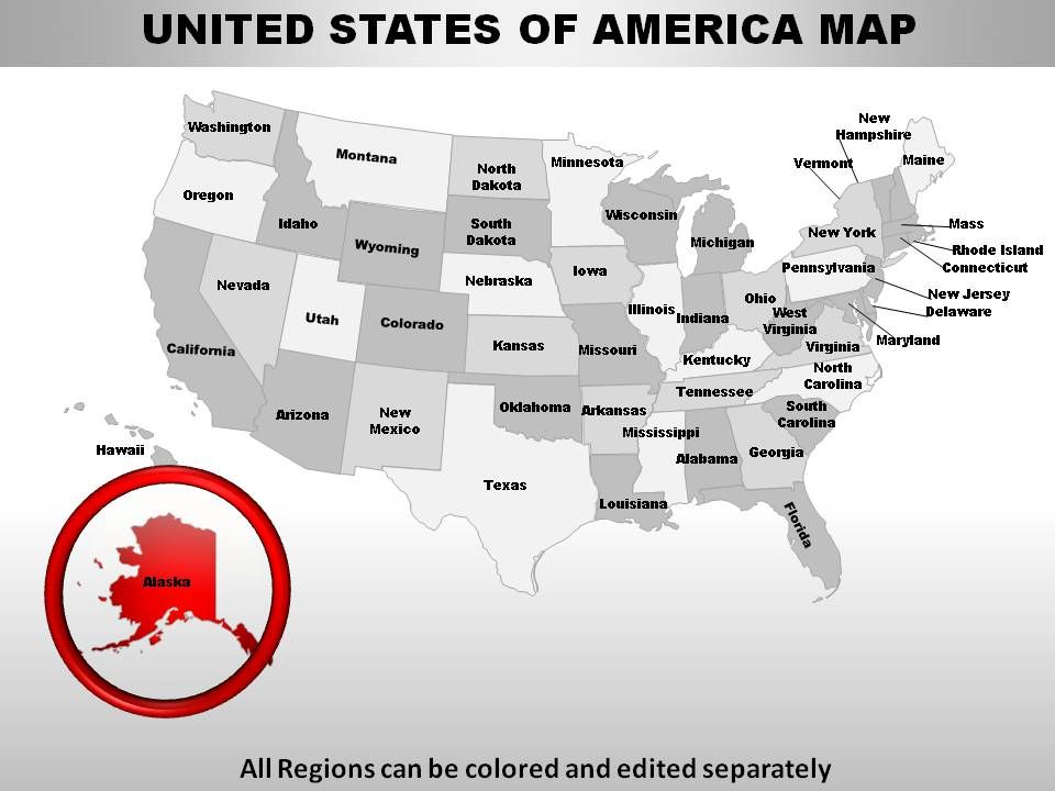 USA Alaska State Powerpoint Maps | PowerPoint Templates ...