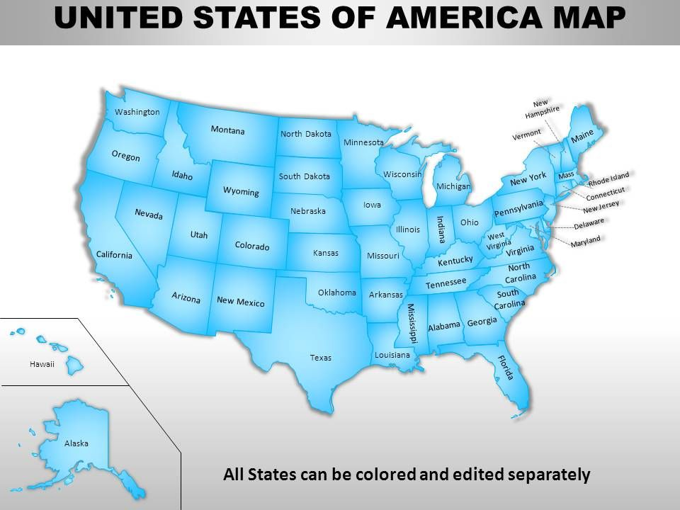 USA Country Powerpoint Maps | PPT Images Gallery ... on