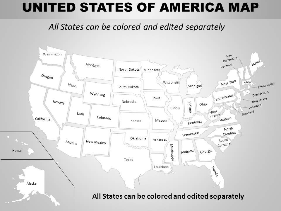 Us Map That Can Be Colored usa eastern region country powerpoint