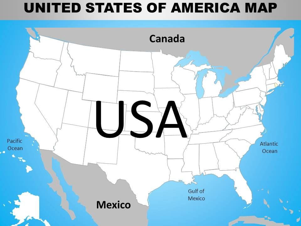Map Of Country Usa.Usa Country Powerpoint Maps Ppt Images Gallery Powerpoint Slide