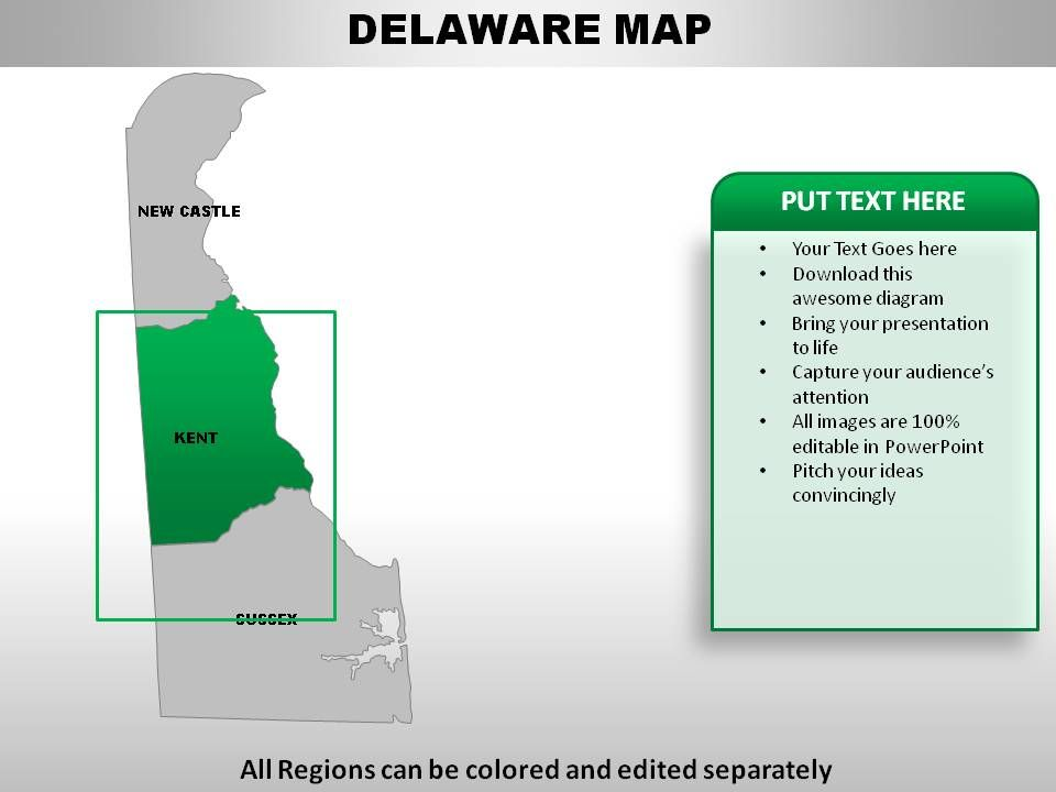 USA Delaware State Powerpoint maps | PowerPoint Design Template ...