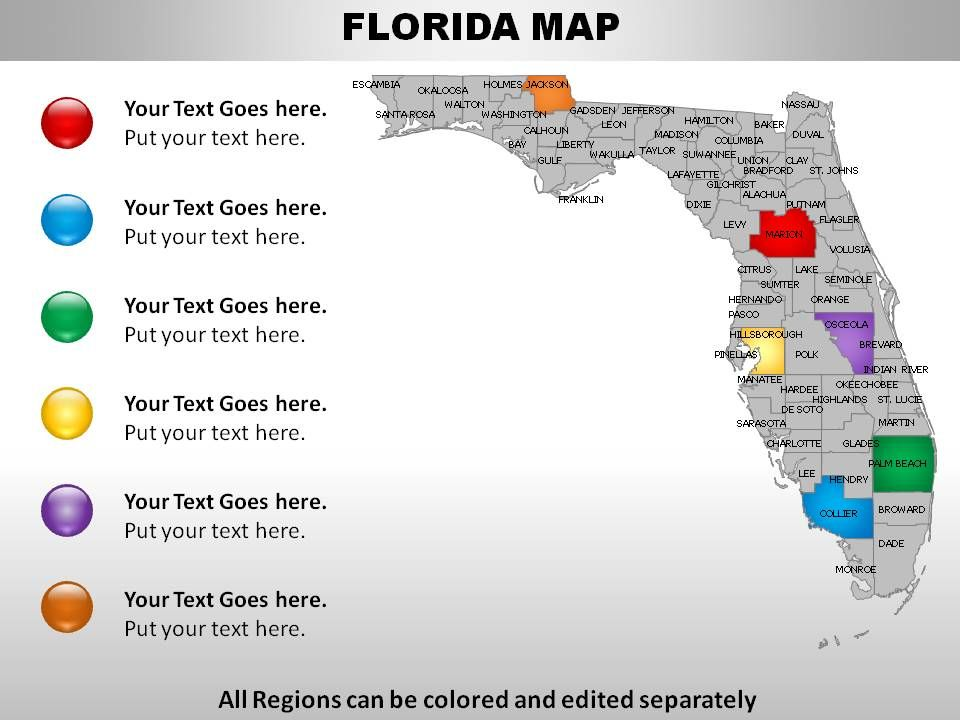Usa Map Florida State.Usa Florida State Powerpoint Maps Powerpoint Templates Download