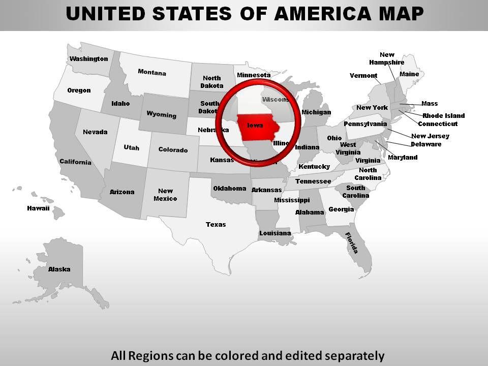 USA Iowa State Powerpoint Maps | PowerPoint Presentation ...