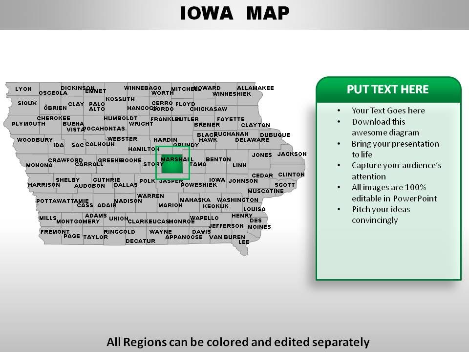 USA Iowa State Powerpoint Maps   PowerPoint Presentation ...