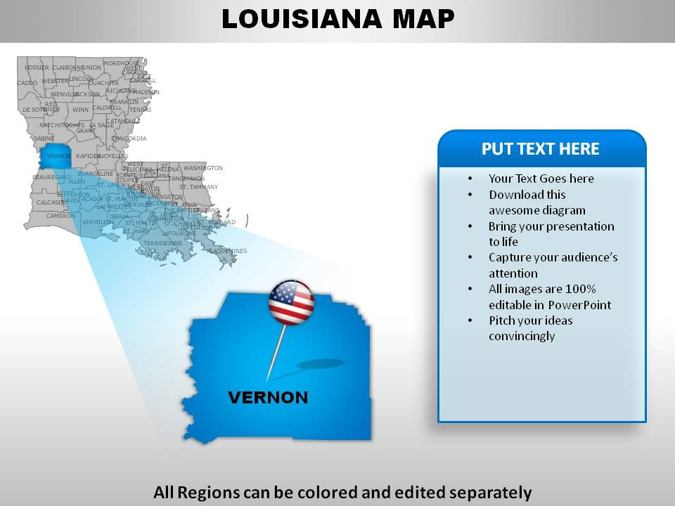 USA Louisiana State Powerpoint Maps | PowerPoint Slide ...