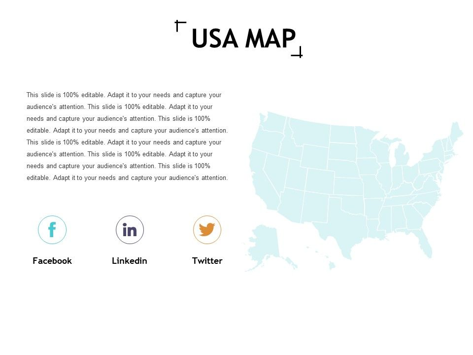 Usa Map Ppt Slides Icon | PowerPoint Slide Clipart | Example of ...