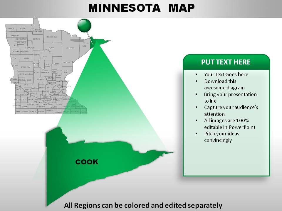USA Minnesota State Powerpoint Maps Graphics Presentation - Us map editable in powerpoint