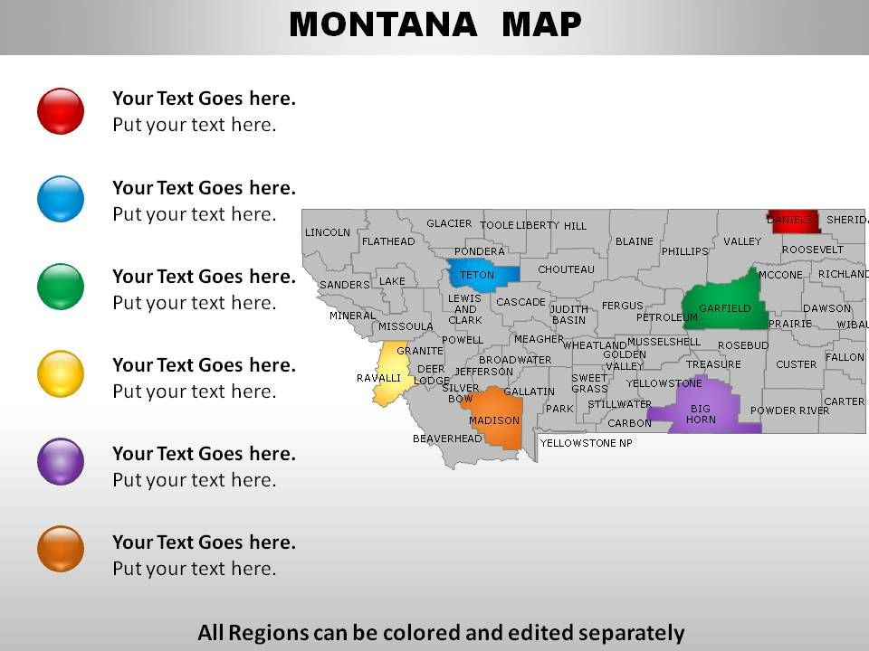 USA Montana State Powerpoint Maps | PowerPoint Templates ...