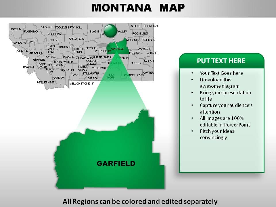 Usa Montana State Powerpoint Maps Graphics Presentation Background For Powerpoint Ppt Designs Slide Designs