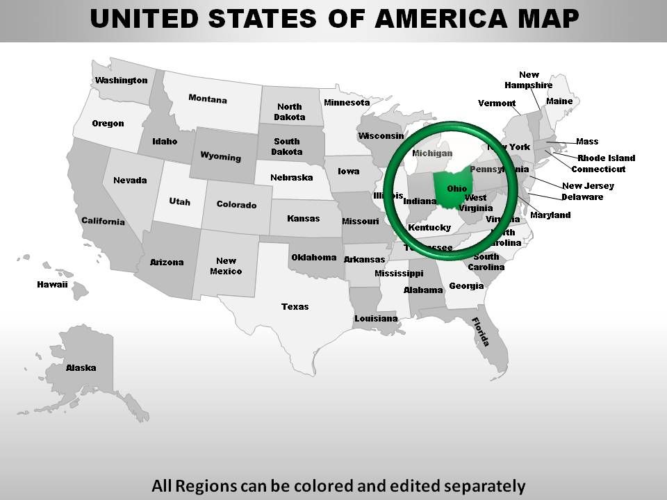 usa ohio state powerpoint maps powerpoint shapes powerpoint