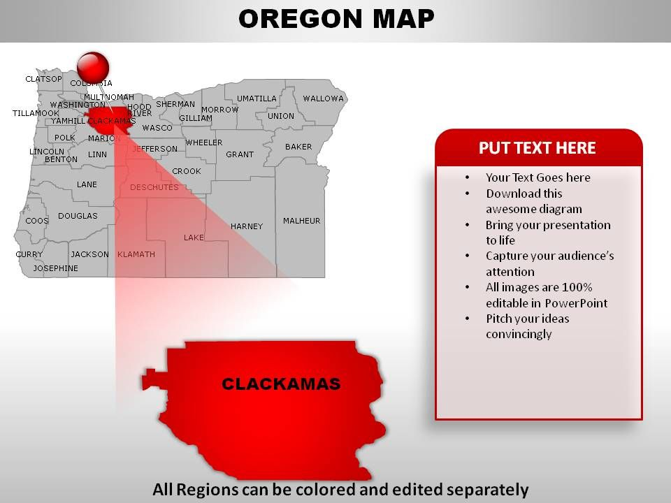 usa oregon state powerpoint maps | powerpoint presentation designs, Modern powerpoint