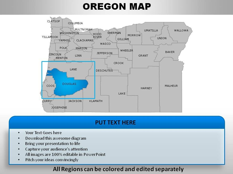 Usa oregon state powerpoint maps powerpoint presentation for Oregon state powerpoint template