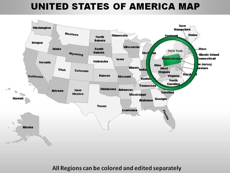 Usa Pennsylvania State Powerpoint Maps Powerpoint Presentation