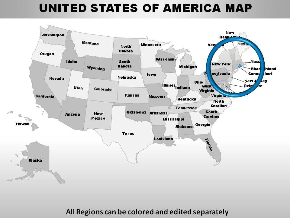 USA Rhode Island State Powerpoint Maps PowerPoint Presentation