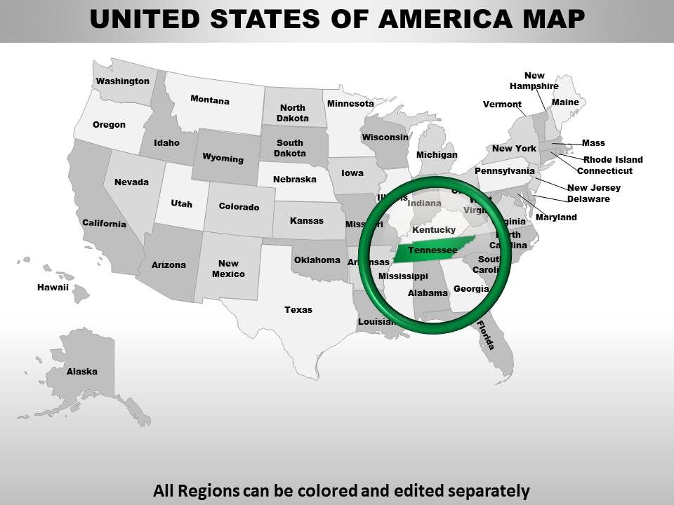 Usa Tennessee State Powerpoint Maps | PowerPoint Templates ... on