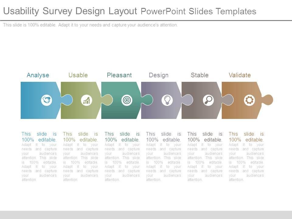 usability survey design layout powerpoint slides templates graphics presentation background. Black Bedroom Furniture Sets. Home Design Ideas