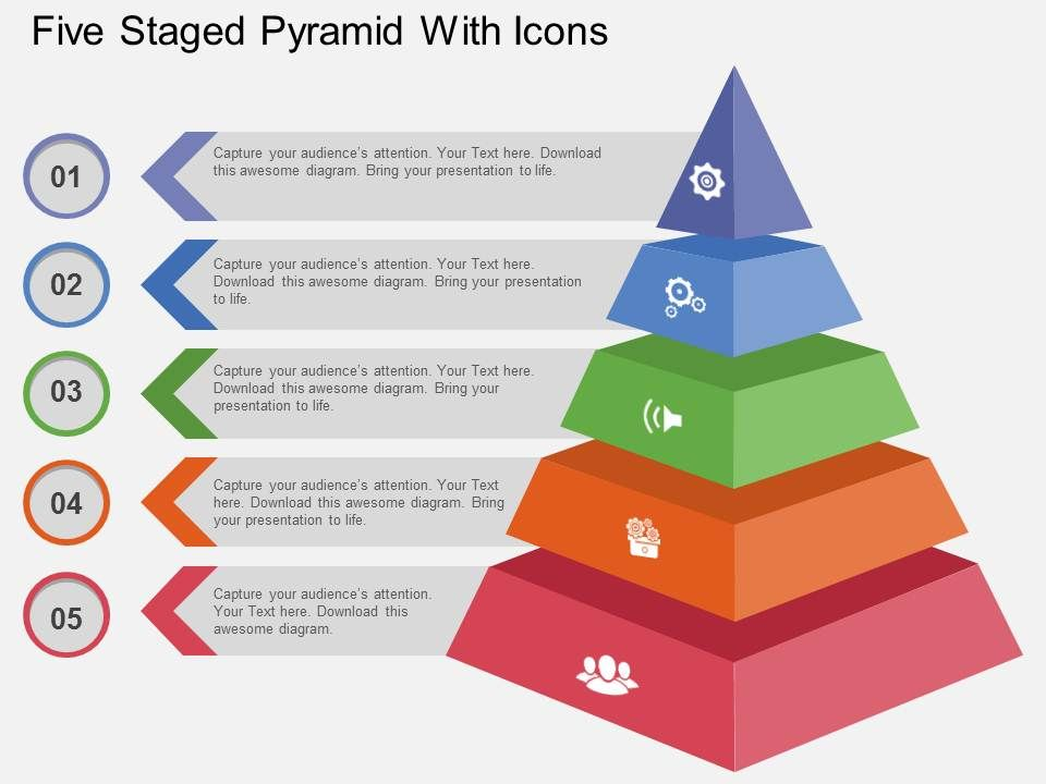 use_five_staged_pyramid_with_icons_flat_powerpoint_design_Slide01