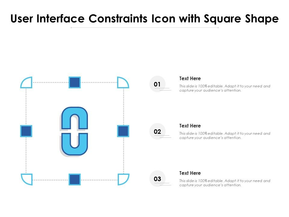 User Interface Constraints Icon With Square Shape