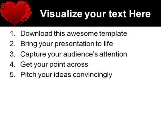 Valentine Heart Beauty PowerPoint Backgrounds And Templates - Awesome valentine powerpoint backgrounds ideas