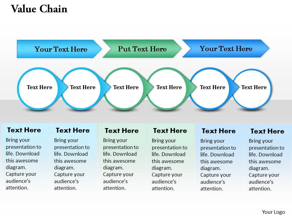 value chain powerpoint template slide | template presentation, Modern powerpoint