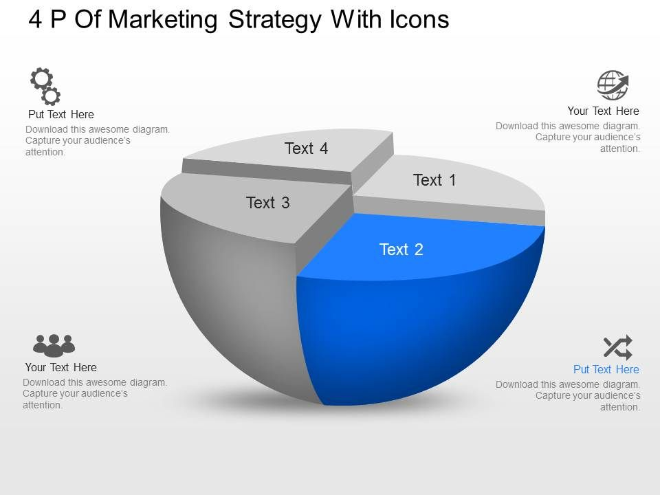 vc p of marketing strategy with icons powerpoint template, Presentation