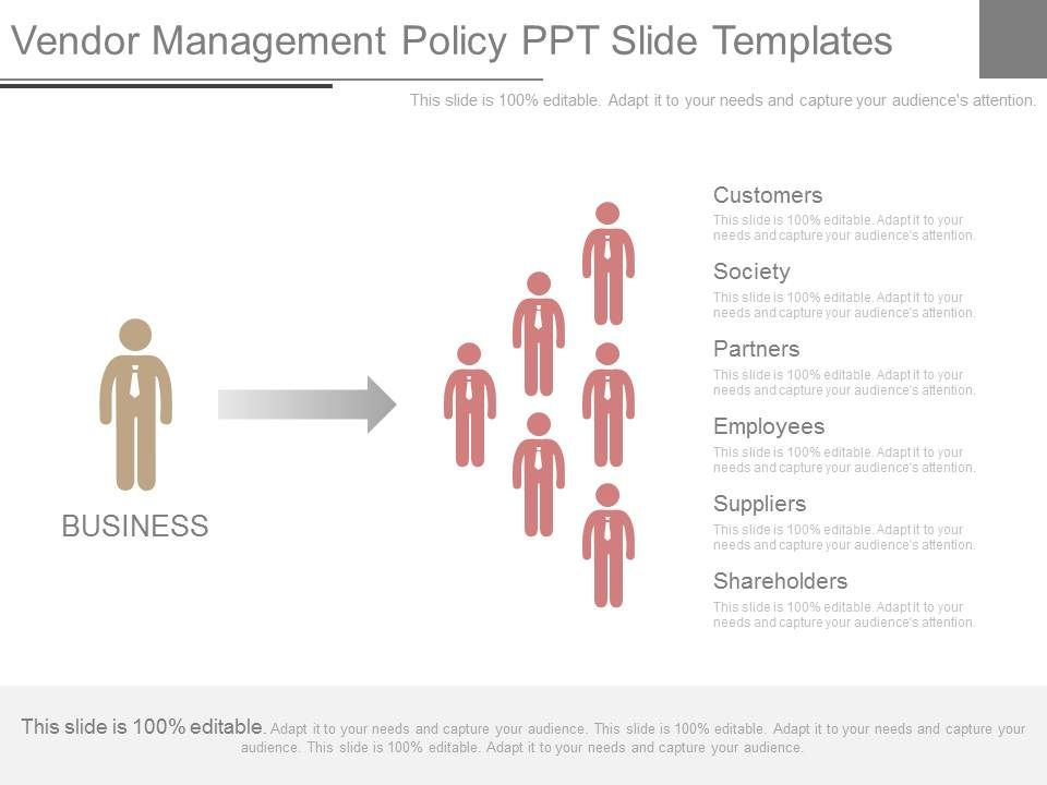Vendor management policy ppt slide templates powerpoint for Vendor management program template