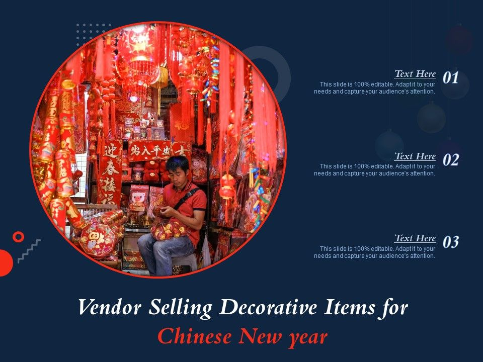 Vendor Selling Decorative Items For Chinese New Year
