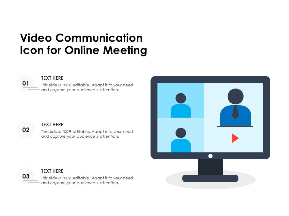 Video Communication Icon For Online Meeting