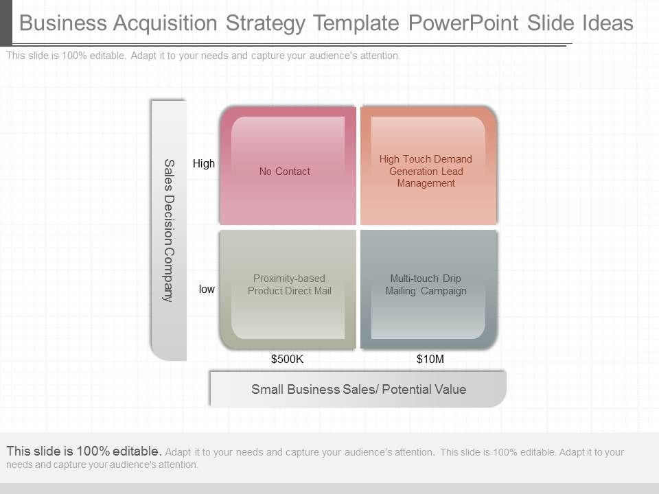 View Business Acquisition Strategy Template Powerpoint Slide Ideas Slide01 Slide02