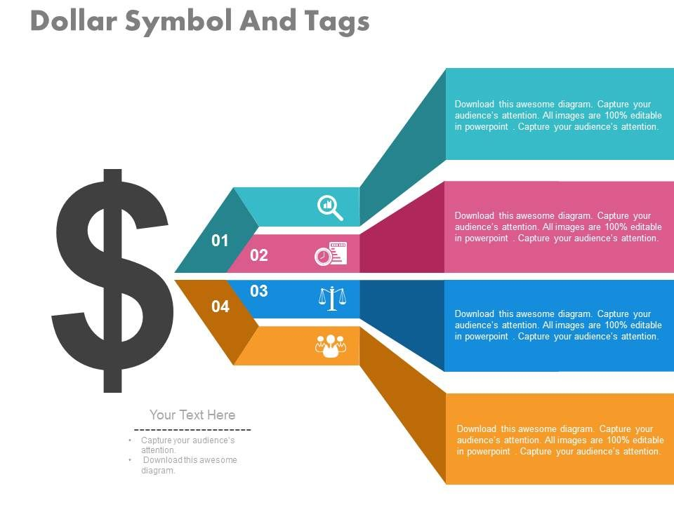 view Dollar Symbol And Tags For Strategic Planning Processes Flat ...